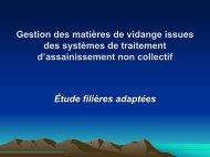 Gestion des matières de vidange issues des systèmes de ... - INBO