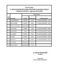 DSİ 21. Bölge Müdürlüğü Daimi İşçi Alımı Sınav Sonuçları