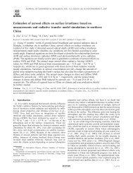 Estimation of aerosol effects on surface irradiance based on ...