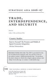 trade, interdependence, and security - The National Bureau of Asian ...