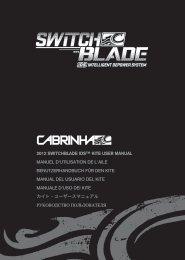 2012 SWITCHBLADE IDS™ KITE USER MANUAL ... - Cabrinha