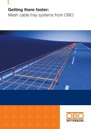 Mesh cable tray systems from OBO