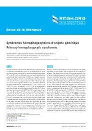 Syndromes hémophagocytaires d'origine génétique ... - RMGH.ORG