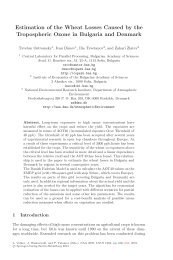 Estimation of the Wheat Losses Caused by the Tropospheric Ozone ...