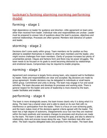 Tuckman's Stages of Team Development: Forming, Storming ...   357 x 462 jpeg 40kB