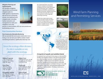 Windfarms Brochure - Applied Ecological Services