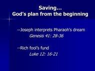 God's Financial Plan Saving