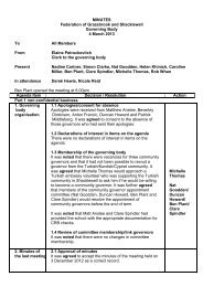 Federation Governor Minutes 04-03-13 - Shacklewell Primary School