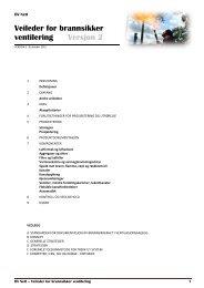 Veileder brannsikker ventilasjon, Versjon 2 - Cowi