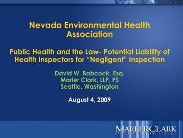 Public Duty - Nevada Environmental Health Association