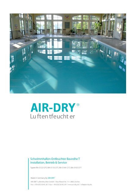Download - AIR-DRY Luftentfeuchter