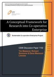 A Conceptual Framework for Research into Co-operative ... - CEMI