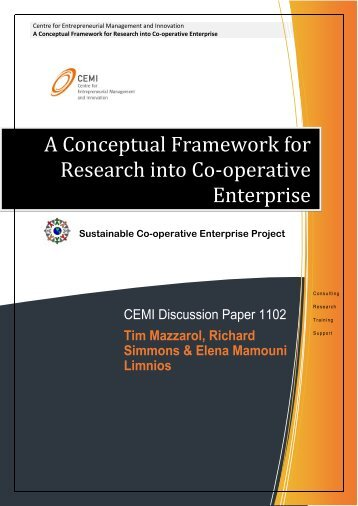 A Conceptual Framework for Research into Co-operative ... - CEMI