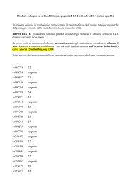 Risultati Lingua spagnola 2 del 2 settembre 2013