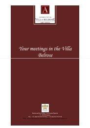 Your meetings in the Villa Belrose - Hotel am Schlossgarten
