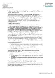 Rekommendation om behandling av personuppgifter om hälsa inom ...