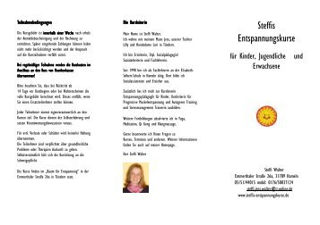 Steffis Entspannungskurse - Ani-ca.de