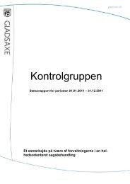 Statusrapport kontrolgruppen.pdf - Gladsaxe Kommune