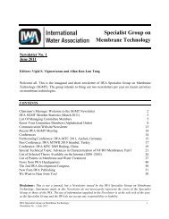 Specialist Group on Membrane Technology - IWA