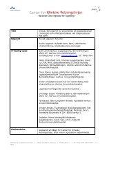 Titel Klinisk retningslinje for anvendelse af lokalbedøvende creme ...