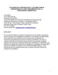 los perfiles corporativos y la inteligencia competitiva: una relación ...