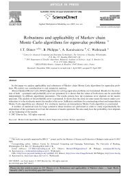 Robustness and applicability of Markov chain Monte Carlo ...