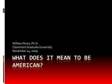 A paper on what does it mean to be american