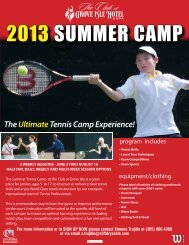 2013 SUMMER CAMP - Cliff Drysdale Tennis