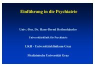 Einführung Psychiatrie - Medizinische Universität Graz
