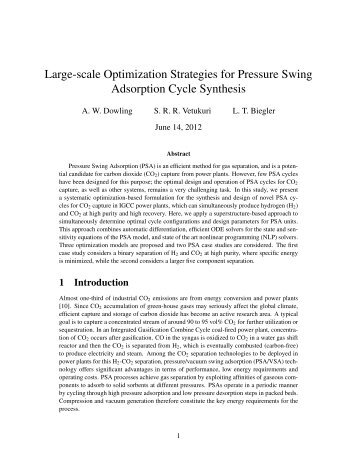 Large-scale Optimization Strategies for Pressure Swing Adsorption ...