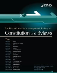 Constitution and Bylaws - RIMS