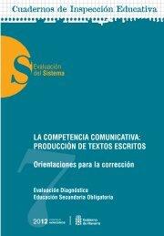 competencia comunicativa: Producción de textos escritos.