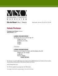 An Evening with Itzhak Perlman - Milwaukee Symphony Orchestra