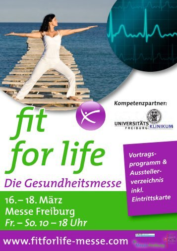 18. März Messe Freiburg Fr. – So. 10 – 18 Uhr fit for life