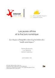 Les jeunes off-line et la fracture numérique - Fondation Travail ...