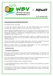 WBV aktuell Nr. 59 - WBV Nordschwaben eV