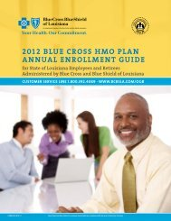 2012 BLUE CROSS HMO PLan annUaL EnROLLMEnT GUIDE