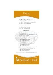 Preisliste - Hotel Schluister Park