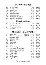 Cocktails - Hotel Schluister Park