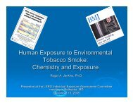 Human Exposure to Environmental Tobacco Smoke: Chemistry and ...