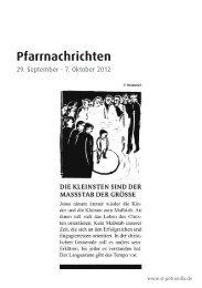 Pfarrnachrichten - Kath. Kirchengemeinde St. Petronilla