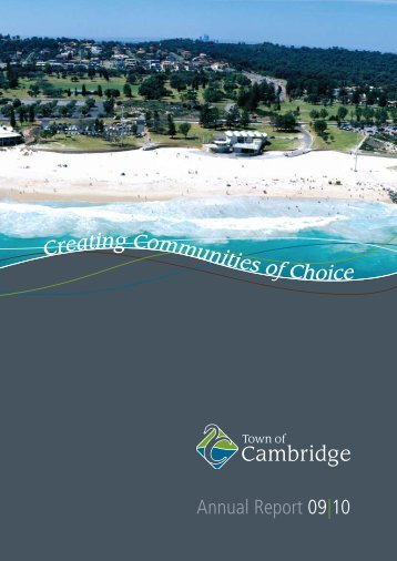 Annual Report 09|10 - Town of Cambridge