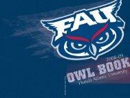 2008-2009 OWL BOOK - Florida Atlantic University Foundation, Inc.