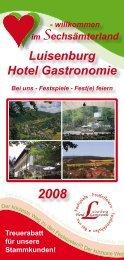 Luisenburg Hotel Gastronomie