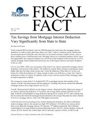 Tax Savings from Mortgage Interest Deduction ... - Tax Foundation