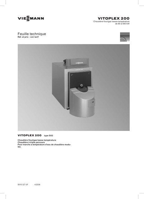 Feuille technique751 KB - Viessmann