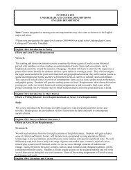 Summer I 2011 (PDF | 33KB) - Undergraduate Programs