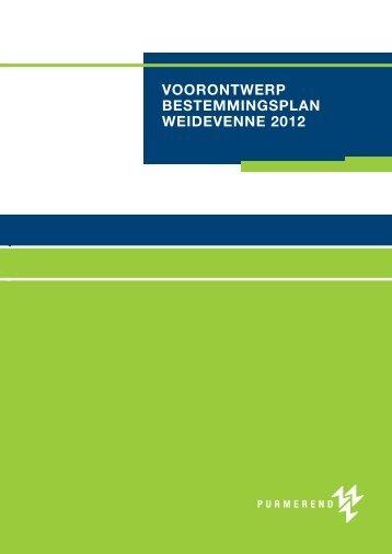 voorontwerp bestemmingsplan weidevenne 2012 - Gemeente ...