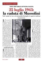 25 luglio 1943: la caduta di Mussolini - Anpi