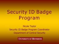 Security ID Badge Program - Facilities Management - University of ...
